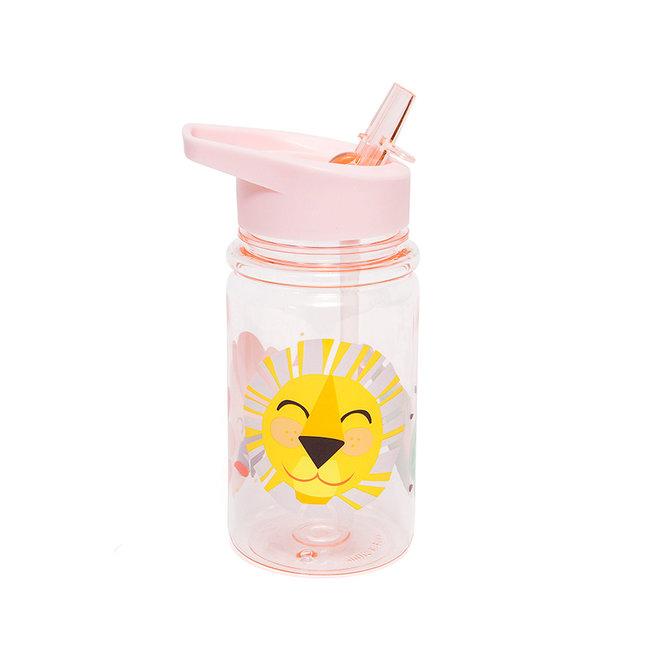 Drinkfles Shiny Lion Pink