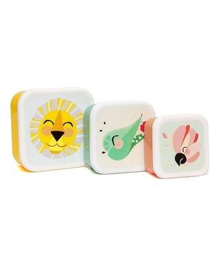 Petit Monkey Snackdoosjes Shiny Lion (set van 3)