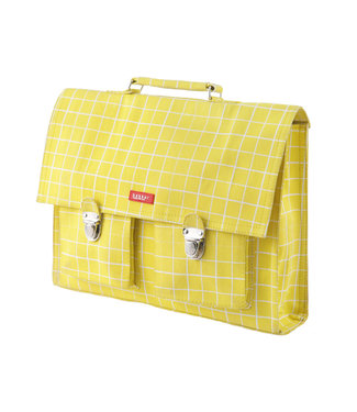 Bakker made with Love Boekentas Retro Kotak Yellow – Large