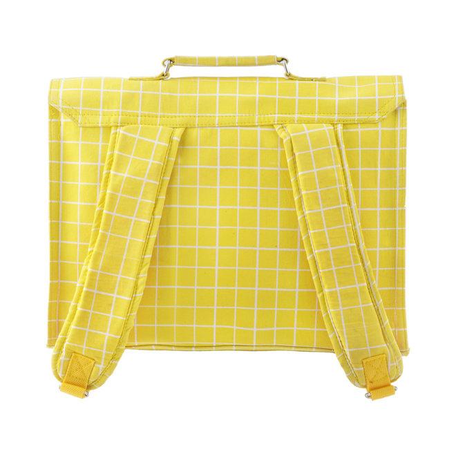 Boekentas Retro Kotak Yellow – Large