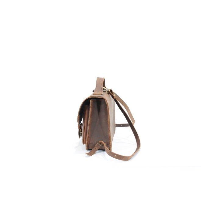 Lederen kleuterboekentasje met voorvak Ranger | Ruitertassen