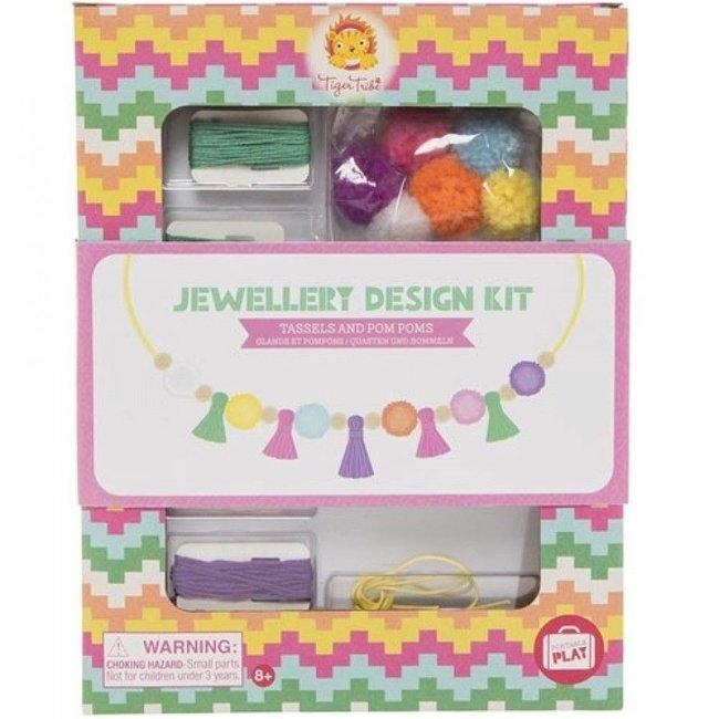 Tiger Tribe Juwelen Design Kit – Tassels & Pom Poms