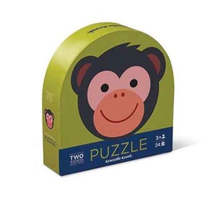 Ronde Puzzel Monkey Friends (24pcs) – 2 zijdig