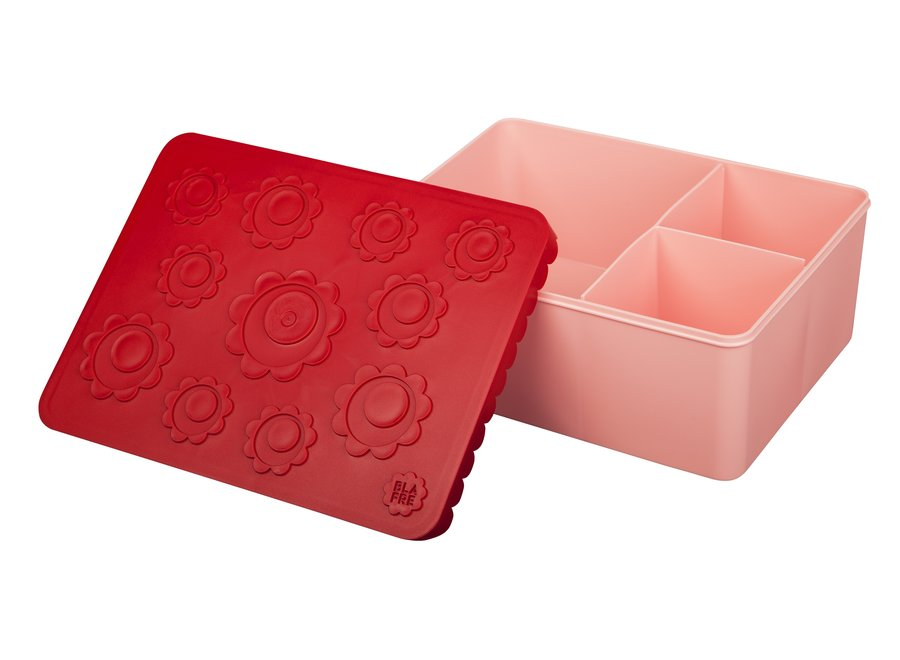 Toffe Lunchbox HDPE Flower Red/Pink