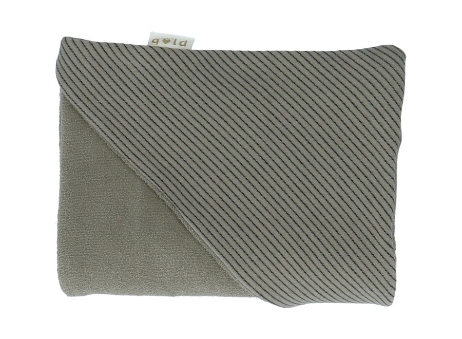 Wikkelcap Claudy Stripes Shadow | Heart of Gold