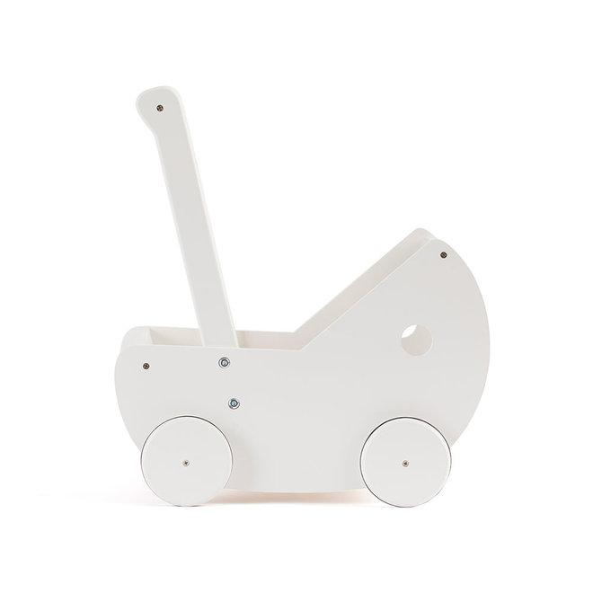 Poppenwagen met matrasje WIT | Kid's concept
