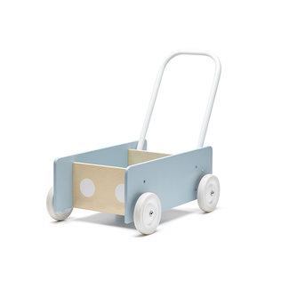 Kid's Concept Houten Loopwagen Blauw | Kid's Concept