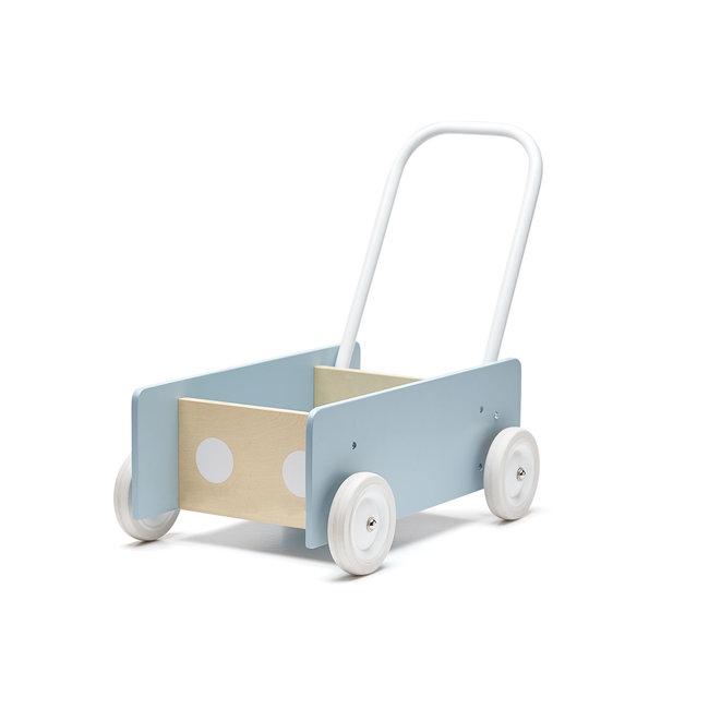 Kid's Concept Houten Loopwagen Blauw   Kid's Concept
