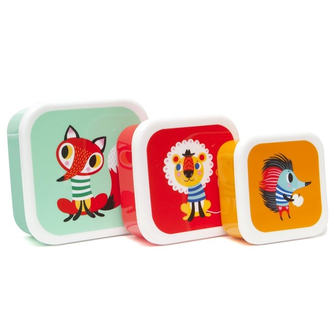 Lunchbox Animals set van 3 doosjes | Petit Monkey