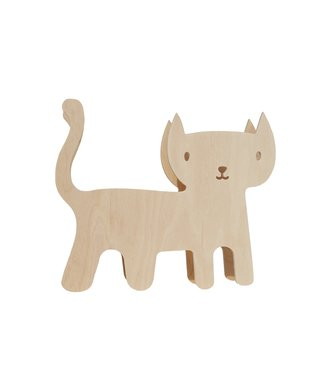 Miniwoo Houten Kinderlamp 'Kat' | MiniWoo
