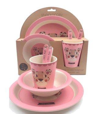 Studio Loco Eetstet Bamboo Leopard - Pink | Studio Loco