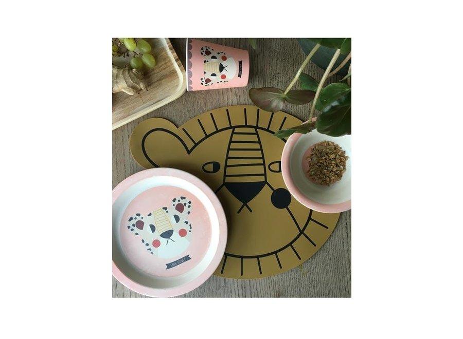 Eetstet Bamboo Leopard - Pink   Studio Loco