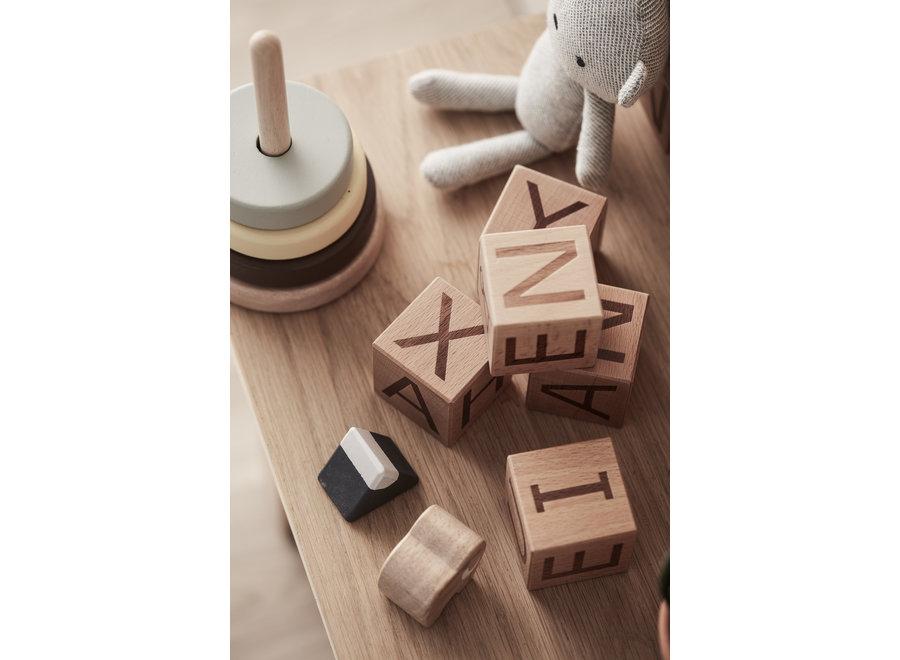 Houten Letterblokken NEO | Kid's Concept