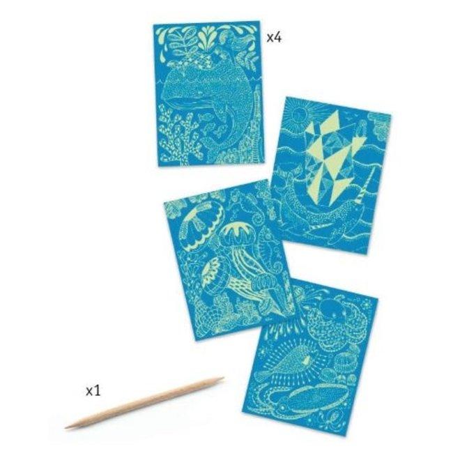 Kraskaarten - In de zee | Djeco