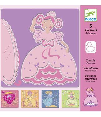 Djeco Tekensjablonen Princessen | Djeco