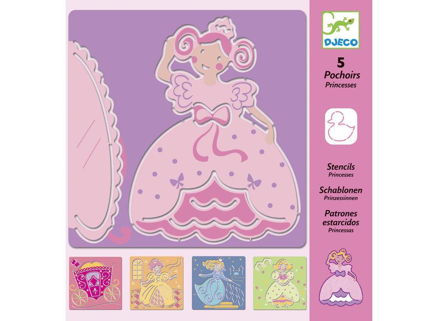 Tekensjablonen Princessen | Djeco