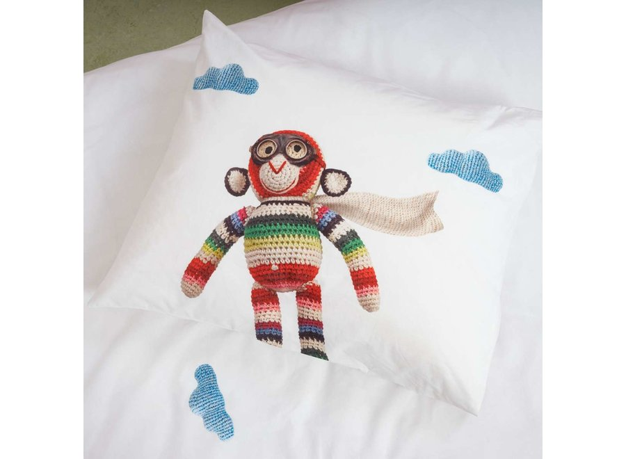 Dekbedovertrek Airplane Monkey   Snurk