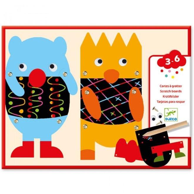 Kraskaarten - Kleine monsters | Djeco