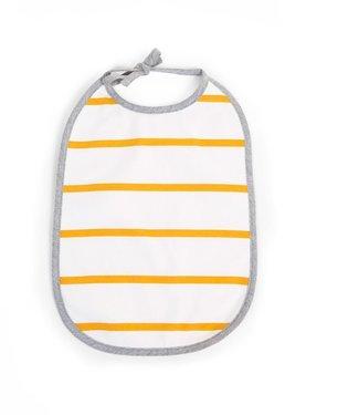 Childhome Slabbetje Jersey Oker Stripes - 2 stuks | Childhome