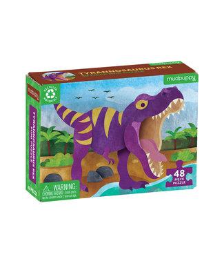 Mudpuppy Mini Puzzel - Tyrannosaurus Rex 48st | Mudpuppy