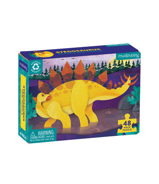 Mudpuppy Mini Puzzel - Stegosaurus 48st | Mudpuppy