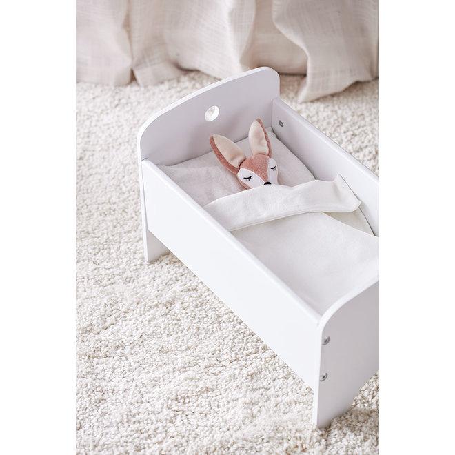 Poppenbedje wit met bedset | Kid's Concept