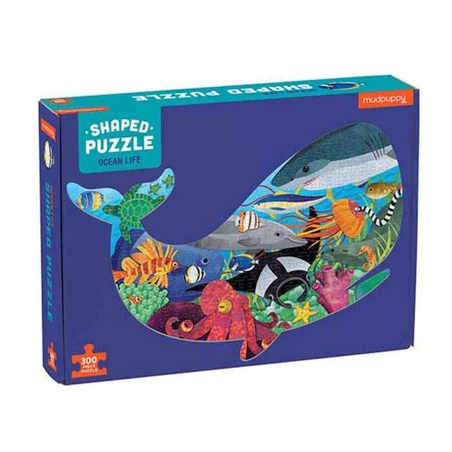 Mudpuppy Shaped Puzzel Ocean Life - 300St