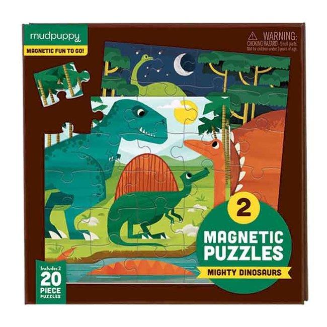 Mudpuppy Magnetic Fun Puzzel Mighty Dinosaurs   Mudpuppy