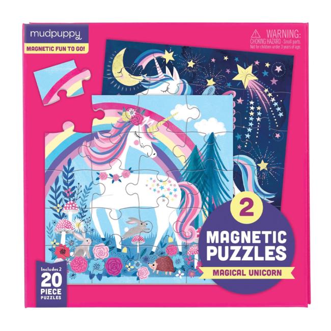 Mudpuppy Magnetic Fun Puzzel Magical Unicorn   Mudpuppy