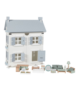 Little Dutch Poppenhuis - blauw 20 DELIG | Little Dutch