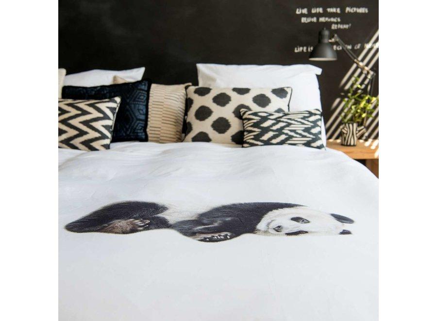 Flanellen Dekbedovertrek Lazy Panda   Snurk