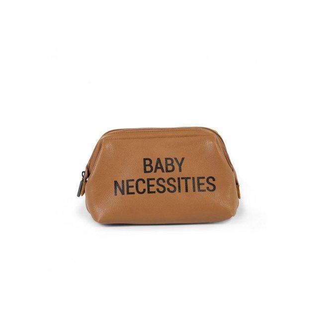 Toilettas Baby Necessities Lederlook Bruin | Childhome