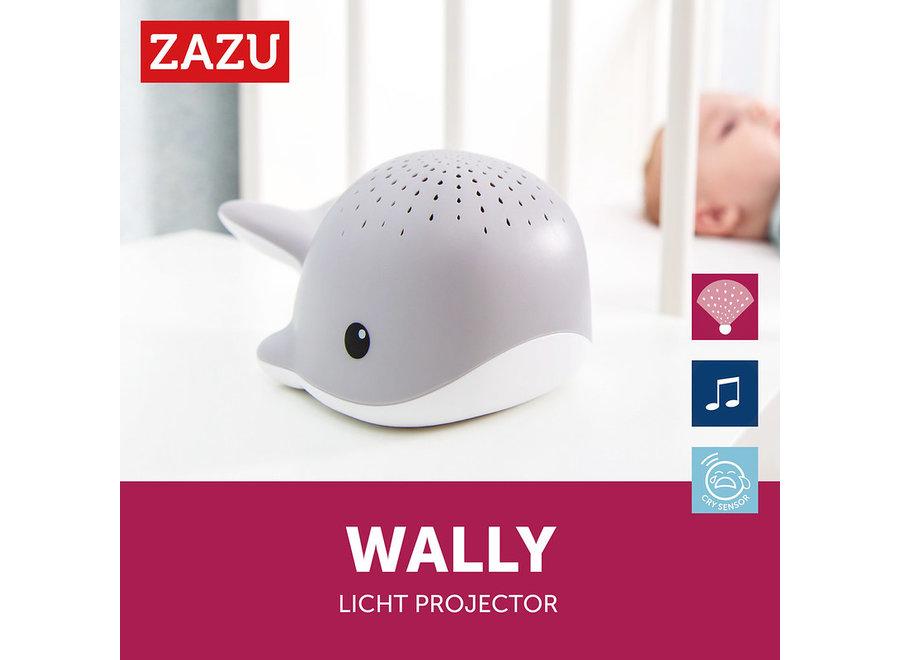 Walvis Lichtprojector met Muziek - Grijs  ZAZU