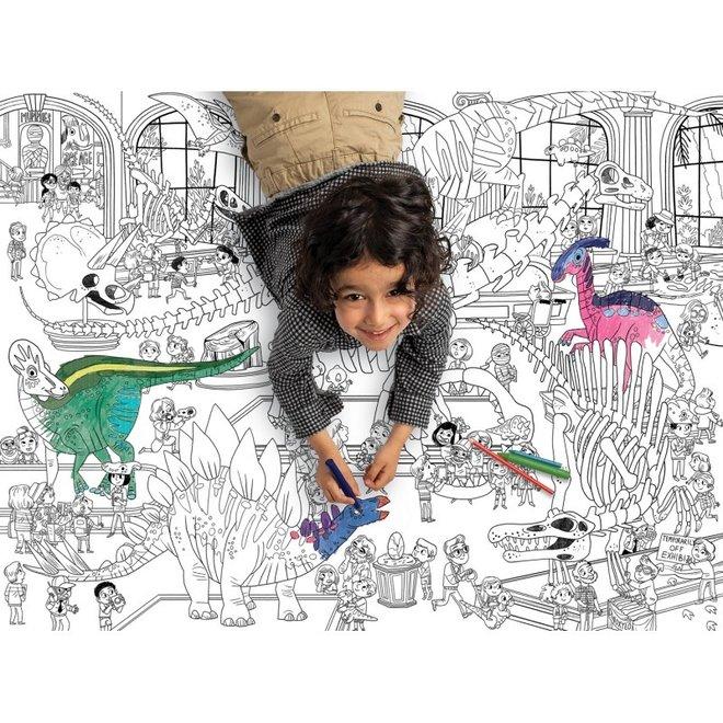 Grote Inkleur Poster - Dinosaurus | Crocodile Creek