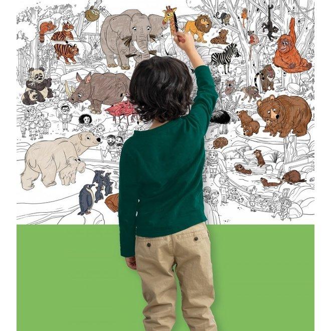 Grote Inkleur Poster - Zoo    Crocodile Creek