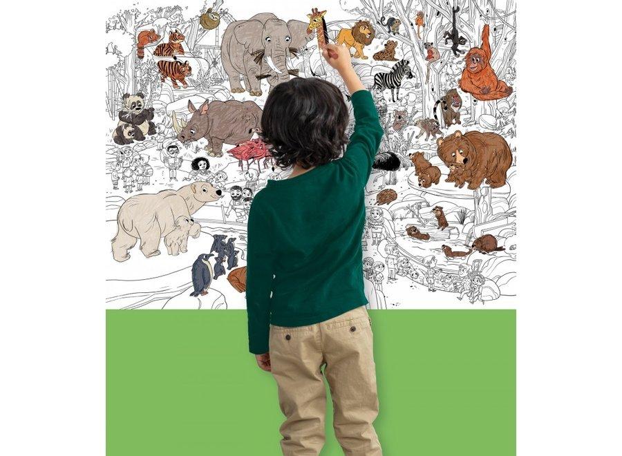 Grote Inkleur Poster - Zoo  | Crocodile Creek