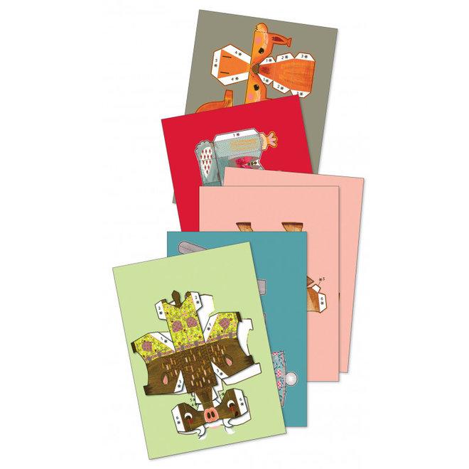 Knutselset Papier - Bosdieren | Djeco