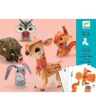 Djeco Knutselset Papier - Bosdieren | Djeco