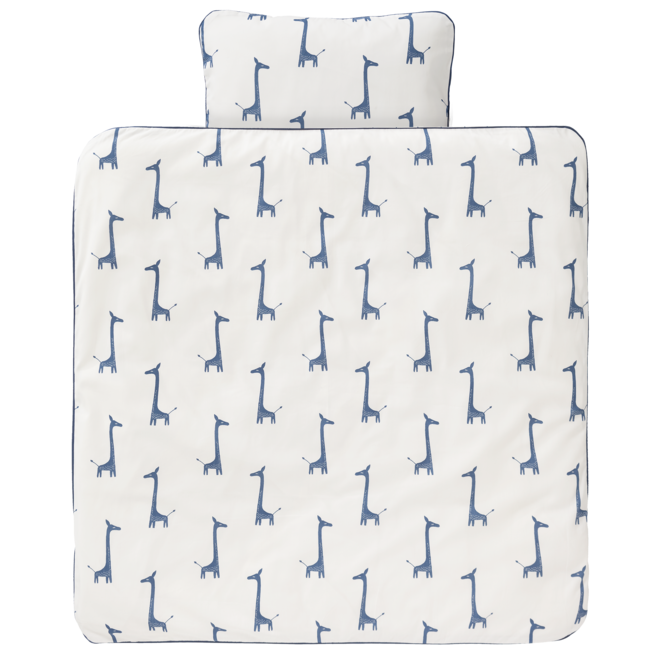 "Ledikant Dekbedovertrek  ""Giraf"" Indigo Blue (100x135cm)| Fresk"