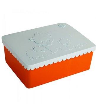 Blafre Toffe Lunchbox HDPE Oranje/Lichtblauw