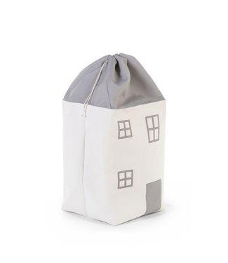 Childhome Speelgoedzak Huis Grijs Ecru |Childhome