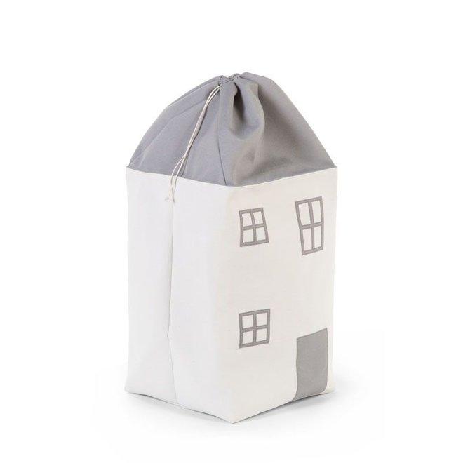 Speelgoedzak Huis Grijs Ecru  Childhome