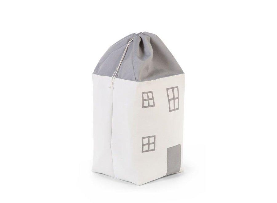 Speelgoedzak Huis Grijs Ecru |Childhome