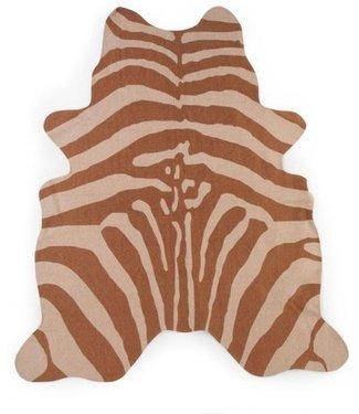 Childhome Zebra Tapijt Nude 145x160 cm | Childhome