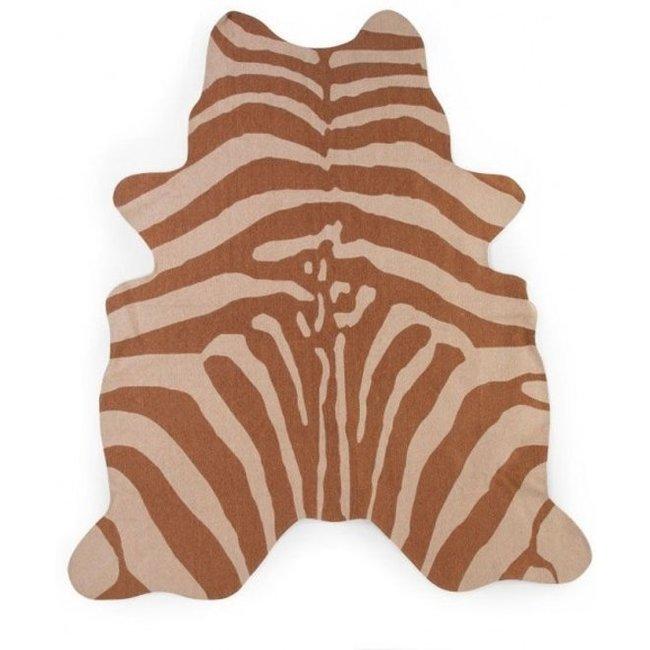 Zebra Tapijt Nude 145x160 cm | Childhome