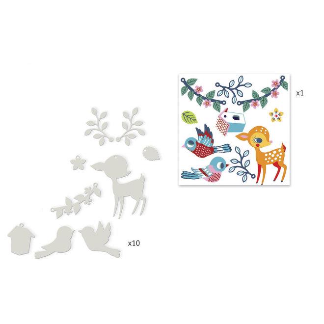 Krimpfolie - Het hert & de vogel | Djeco
