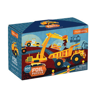 Mudpuppy Werfvoertuigen Folie Puzzel - 100st | Mudpuppy