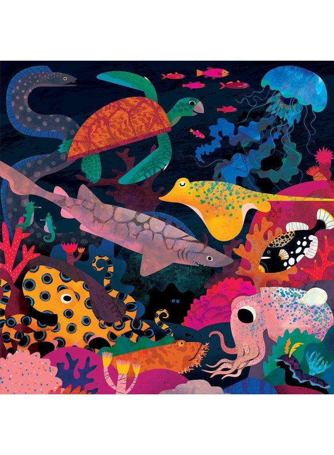 Ocean - Puzzel glow in the dark 500st   Mudpuppy