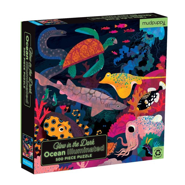 Mudpuppy Ocean - Puzzel glow in the dark 500st | Mudpuppy