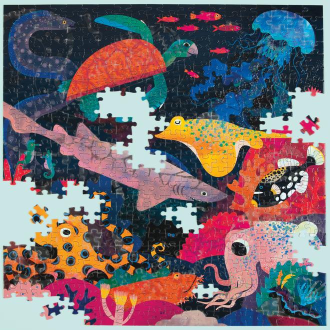 Ocean - Puzzel glow in the dark 500st | Mudpuppy